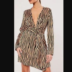 Missguided Zebra Print Dress